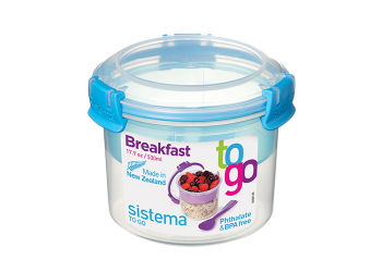 Sistema Opbevaringsboks blå 530 ml Breakfast to go