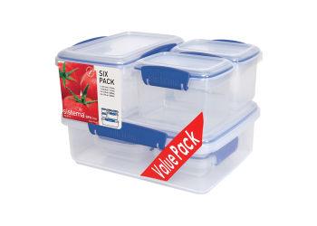 Sistema Opbevaringsboks Six Pack Blå