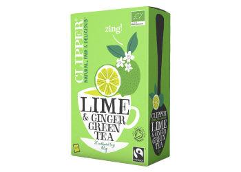 Clipper Grøn Te m. Lime & Ingefær