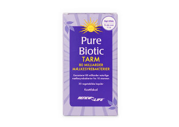 Renew Life Pure Biotic Tarm 80 mia. Mælkesyrebakterier