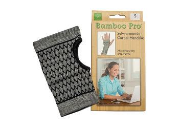 Bamboo Pro Carpal Handske Selvvarmende