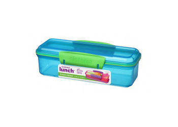 Sistema Snack Attack Box 2 Rum 410 Ml Lime, Blå, Pink