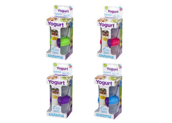 Sistema Yoghurt To Go 2-pack 2x150 Ml Lime, Blå, Lilla