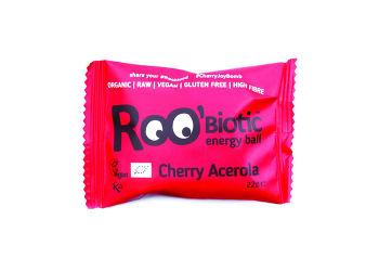 ROO'bar Roobiotic Energibombe Kirsebær & Acerola Ø