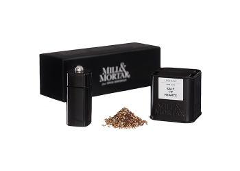 Mill & Mortar Gaveæske - Salt of Hearts m. Mini Kværn