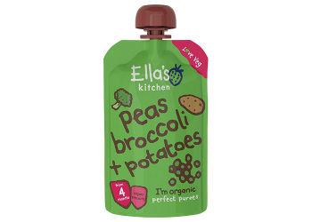Ellas Kitchen Babymos ærter, broccoli & kartofler 4 mdr Ø