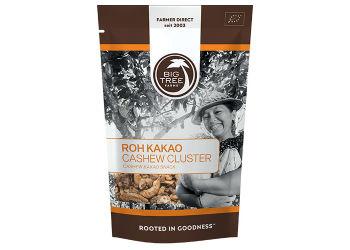 Big tree farms Cashew kakao cluster raw Ø