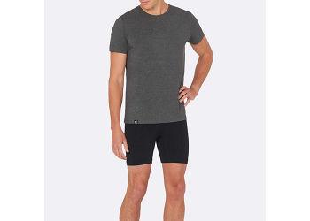Boody T-shirt Herre Mørk Grå Rund Hals Str. XL