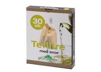 Natur-Drogeriet Tefiltre Med Snor  Engangsfilter, Ubleget