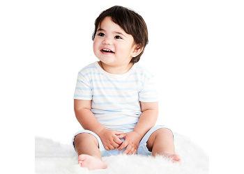 Boody Baby T-shirt Stribet Hvid/blå 6-12 Mdr