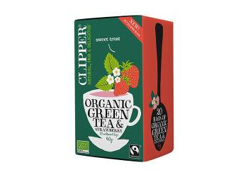 Clipper Grøn Te m. Jordbær Ø