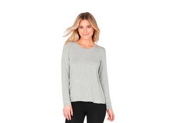 Boody T-shirt Dame langærmet grå str. XL