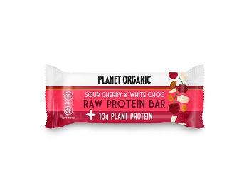 Planet Organic Raw Proteinbar Sour Cherry Ø  & White Choc