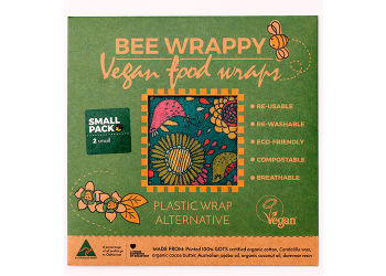 Bee Wrappy Vegan Food Wraps - 2 X Small