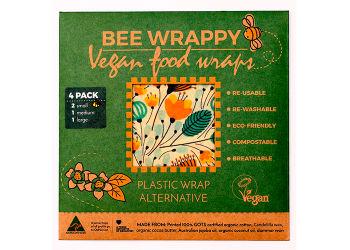 Bee Wrappy Vegan Food Wraps - 4 Pak