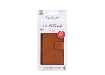 RadiCover Mobilcover Iphone 6/7/8 Brun Premium Læder