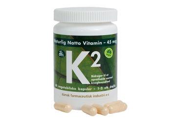 DFI K2 vitamin 45 mcg naturlig natto