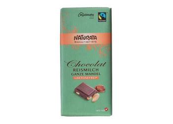 Naturata Chokolade m. Mandel Laktosefri Ø