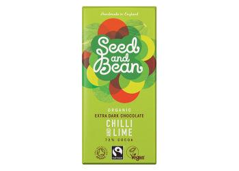 Seed&bean Mörkchoklad 58% Med Citron & Kardemumma Ekologisk