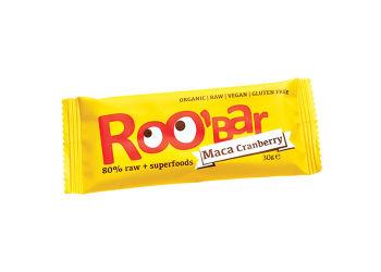 ROO'bar Bar Maca & Tranebær Ø Roobar   100% Raw