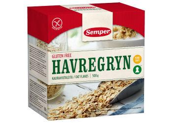Semper Havregryn Glutenfri  Grov