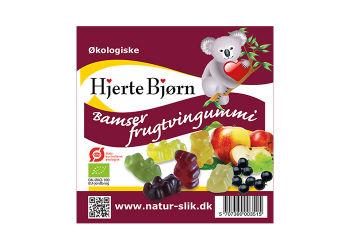 Hjerte Bjørn Økologiske Frugtsaftbamser