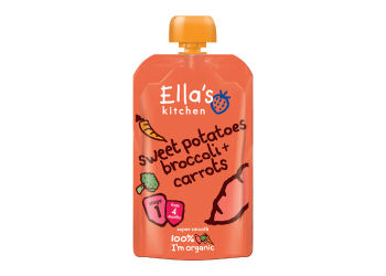 Ellas Kitchen Babymos søde kartofler, brocco & gulerod 4 mdr. Ø