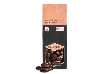 Økoladen Mandler m. Mørk Chokolade