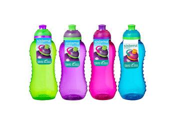 Sistema Drikkedunk 330 Ml Twist'n Sip Blå, Pink, Grøn, Lilla.