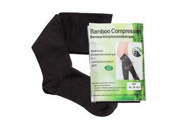 Bamboo Pro Kompressionsstrømper m/Bambus Trækul