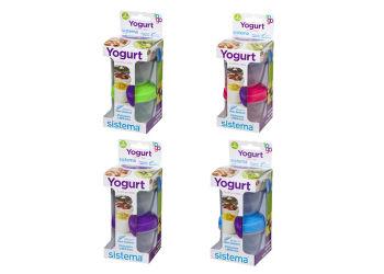 Sistema Yoghurt To Go 2-pack 2x150 Ml Lime, Blå, Lilla