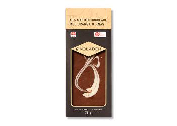 Økoladen Chokolade mælk orange/knas Ø 40%