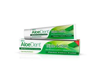AloeDent Tandpasta Tripple Action  Fluoride Free