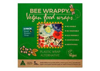 Bee Wrappy Vegan Food Wraps - 3 Pak