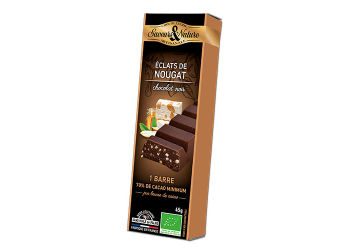 Saveurs & Nature Chokoladebar Mørk 70% Ø Fransk Nougat