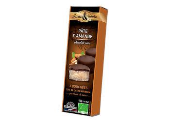 Saveurs & Nature Minitærte Marcipan & Mørk Ø Chokolade 70 % 3 Stk