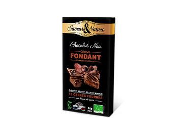 Saveurs & Nature Chokolade Fyldt Mørk 70% M.chokoladeganache Ø M. Chokoladaganache - 18 Stk