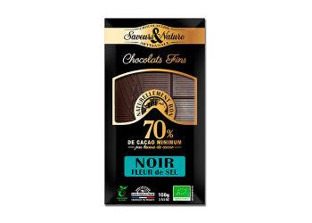 Saveurs & Nature Chokolade 70% Havsalt Ø Mørk