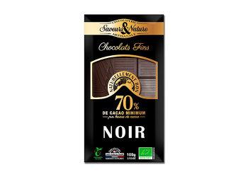 Saveurs & Nature Chokolade 70% Mørk Ø