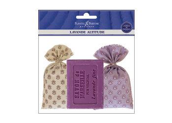 Plantes & Parfums Lavendelposer 2 ×18g Incl 1 Stk Lavendelsæbe 100g