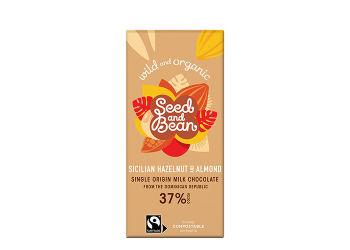 Seed & Bean Rich Milk Chocolate 37% Sicilian Hazelnut & Almond E