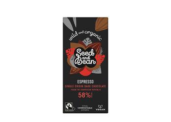 Seed & Bean Mörk Choklad 58% Espresso Ekologisk