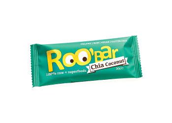 ROO'bar Bar Chia Kokosnød Ø Roobar  100% Raw