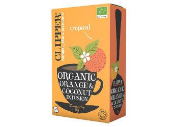 Clipper Orange & Coconut te Ø