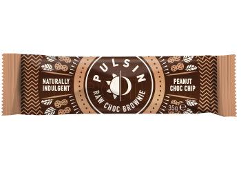 Pulsin Bar med Peanut Choc chip raw choc brownie