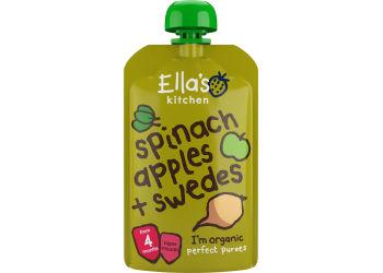 Ellas Kitchen Babymos spinat, æble & kålroer 4 mdr Ø