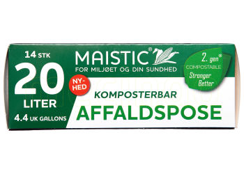 Maistic Komposterbare Affaldsposer 20L