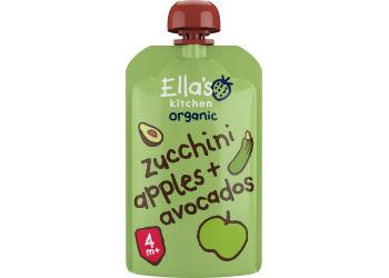 Ellas Kitchen Babymos Courgette, Æble & Avocado 4 Mdr Ø