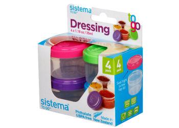 Sistema Minibox Dressing To Go 4x35 ml ass. farge