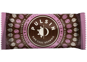 Pulsin Bar med Almond&Raisin Raw  Choc Brownie